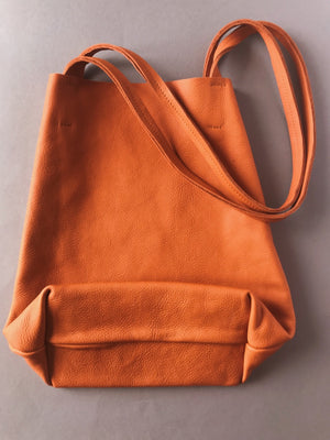 THE BROWN LEATHER TOTE BAG