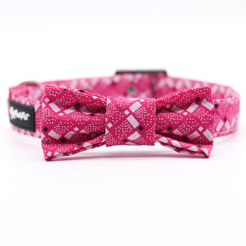 Shweshwe Pink Zee Collar with Bow Tie