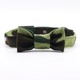 Army Camo Collar with Bow Tie