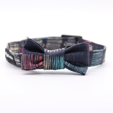 Funky Denim Collar with Bow Tie