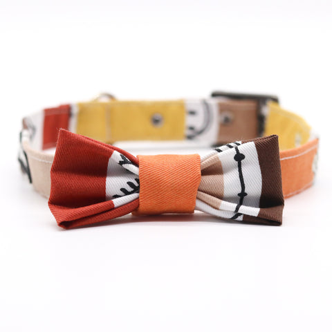 Striped Fiesta Collar with Bow Tie
