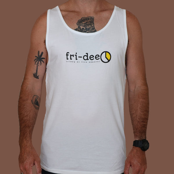 """Fri-dee"" Singlet - White"