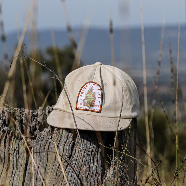 'Lay Low' - six panel unstructured hat