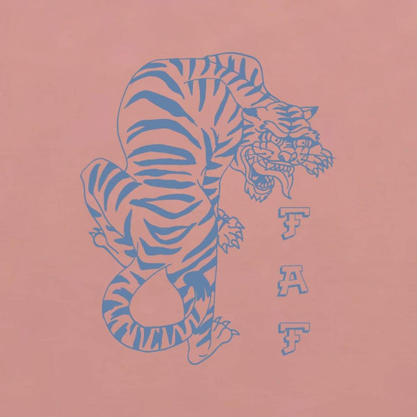 'Crouching Tiger' Tee - Rose