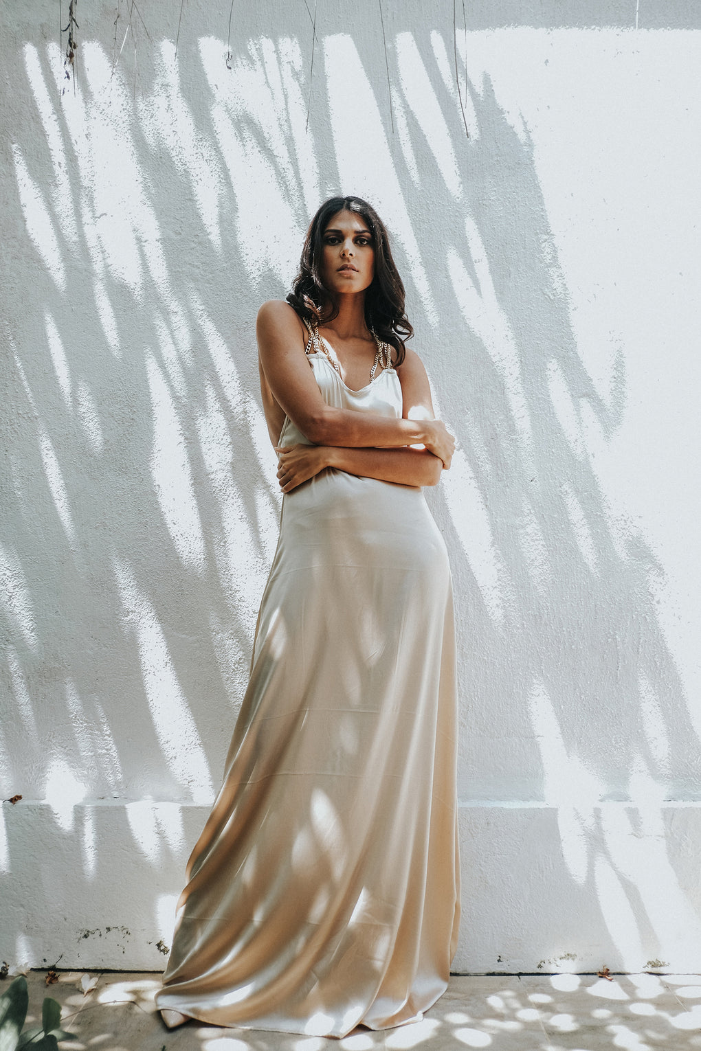 Golden Chain Silk Gown - Hanalei Swan Styles
