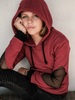 Image of Girl's Organic Cotton Diamond Elbow Hoodie - UnstoppableFamily
