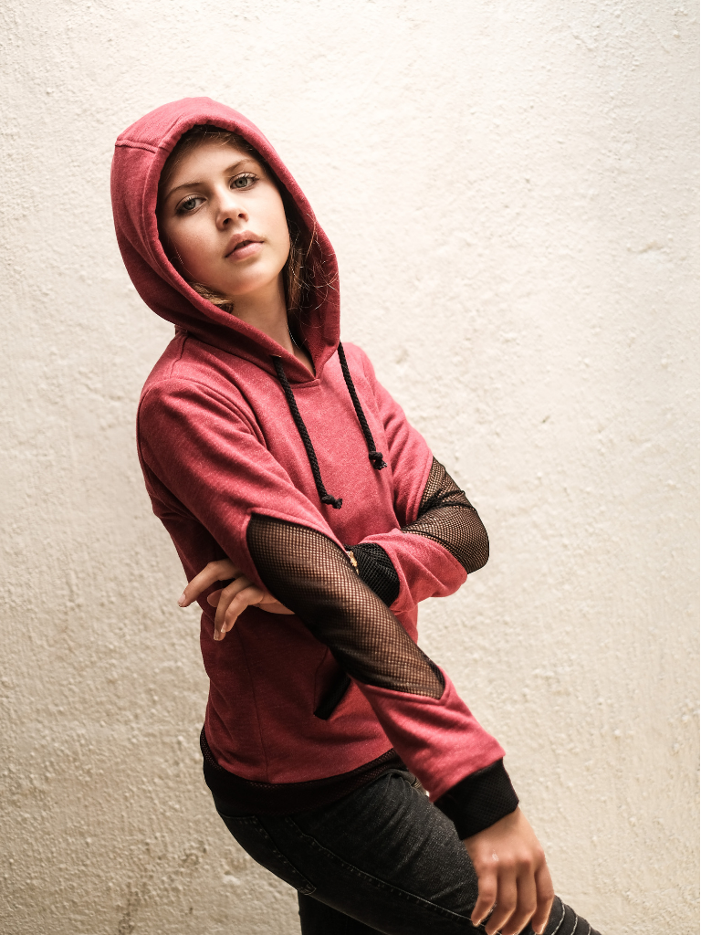 Girl's Diamond Elbow Hoodie - Hanalei Swan Styles