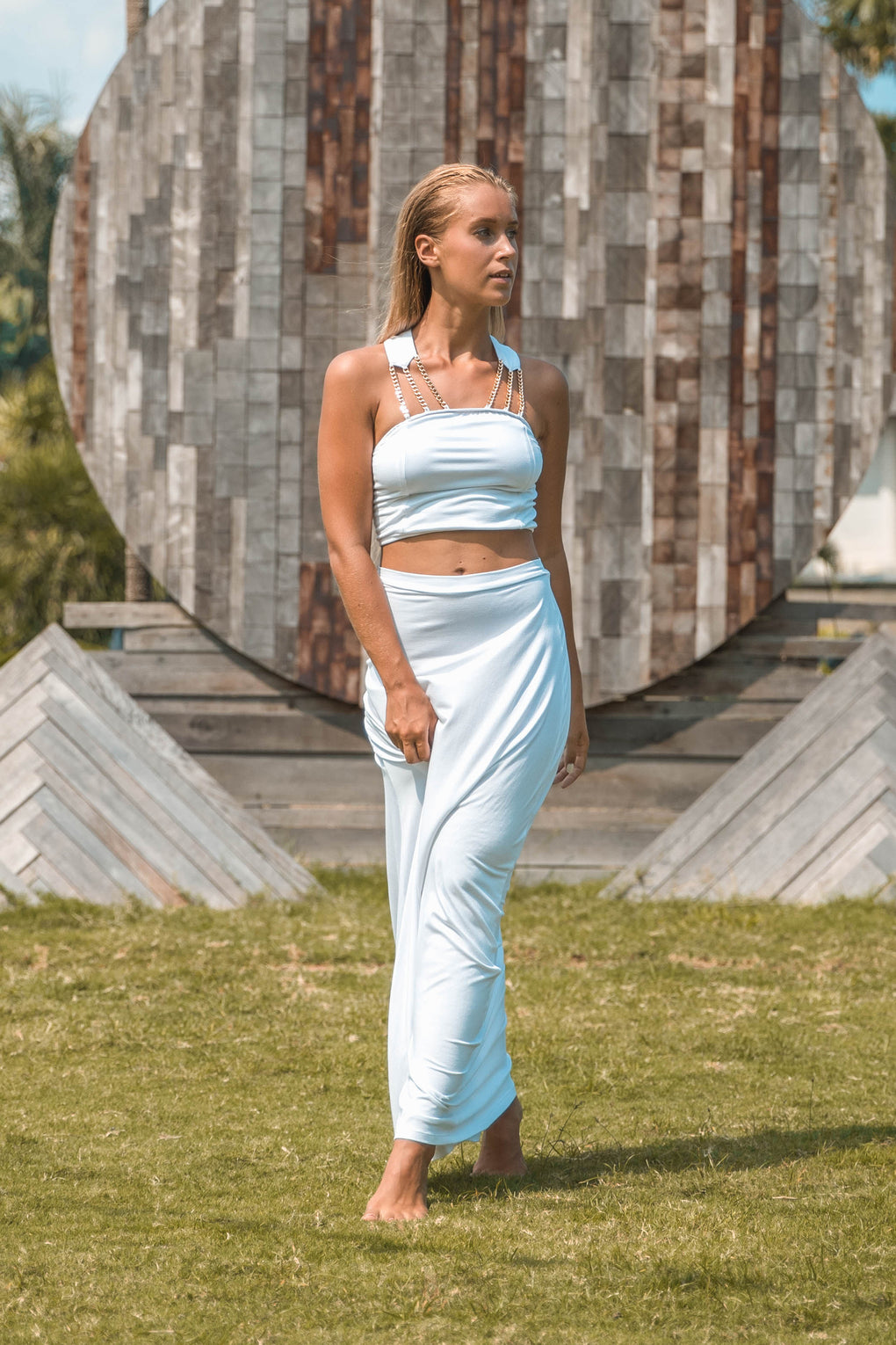 Two-Piece Chain Gown with Modal Cotton - Hanalei Swan Styles