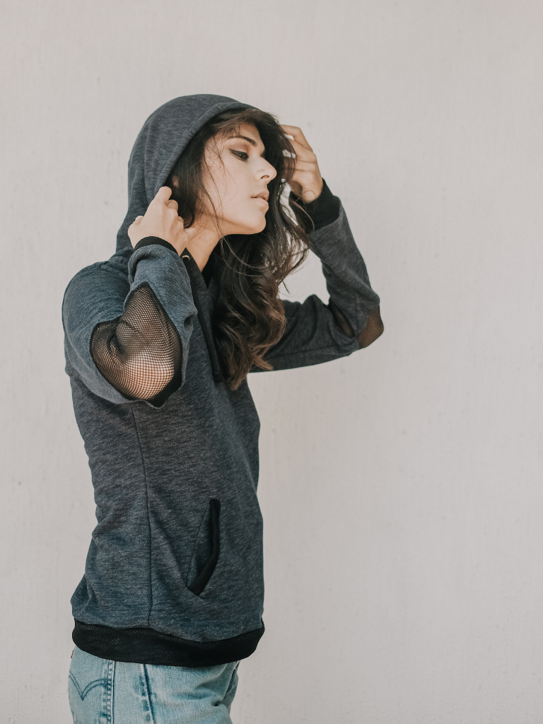 Women's Diamond Elbow Hoodie - Hanalei Swan Styles