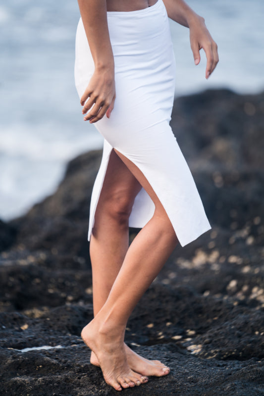 Knee High Pencil Skirt with Slit - Hanalei Swan Styles