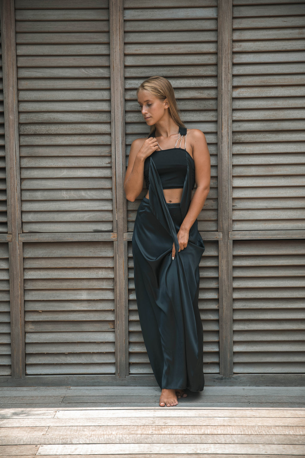 Two-Piece Chain Gown, Silk with Modal Cotton - Hanalei Swan Styles