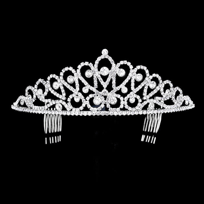 Diadem -Graceful Princess - silber mit Strass