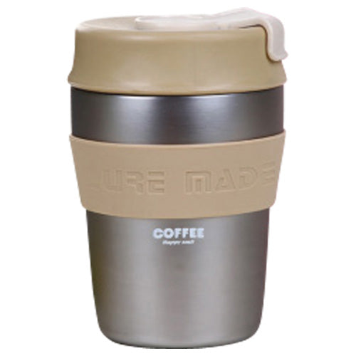 Coffee To Go Cup - Kaffeebecher - Edelstahl silber - 280ml