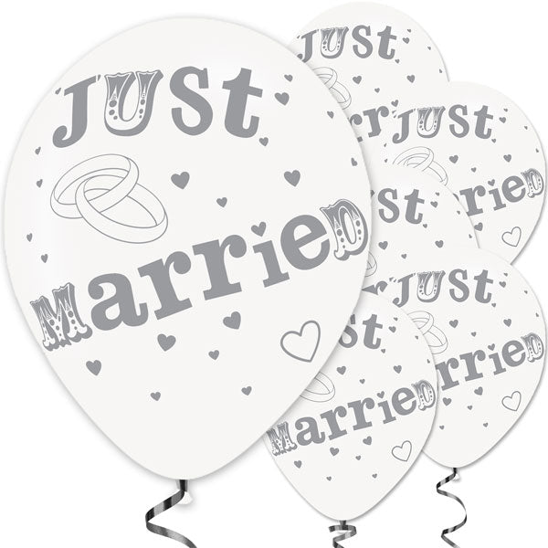 Ballon Set Just Married 10-teilig