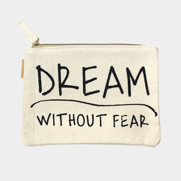 Canvas Schminktasche Eco - Dream Without Fear