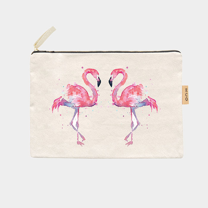 Canvas Schminktasche Eco - Flamingo