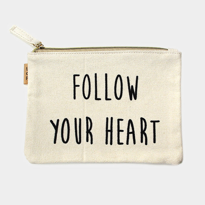 Canvas Schminktasche Eco - Follow Your Heart