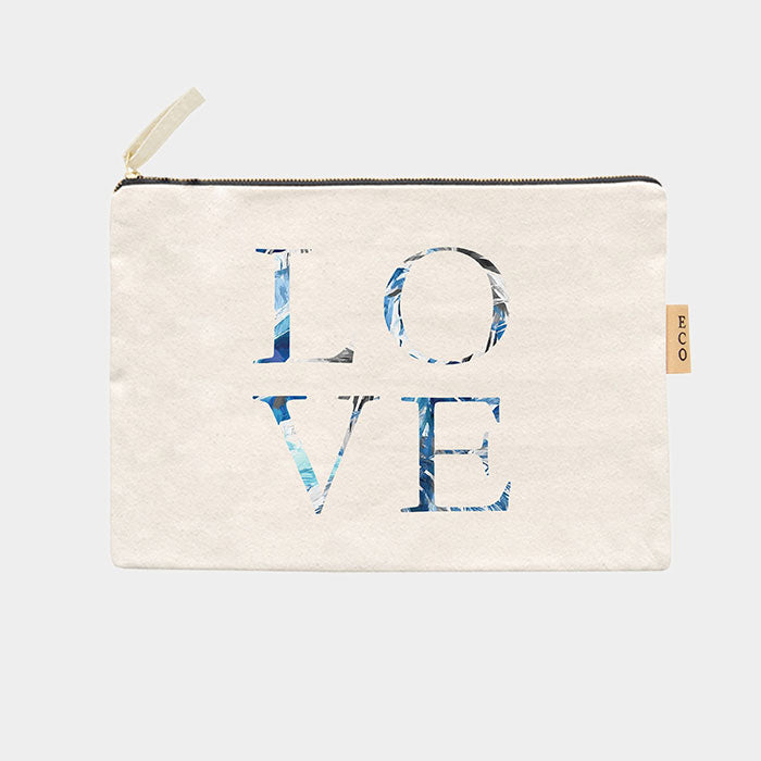 Canvas Schminktasche Eco - Love