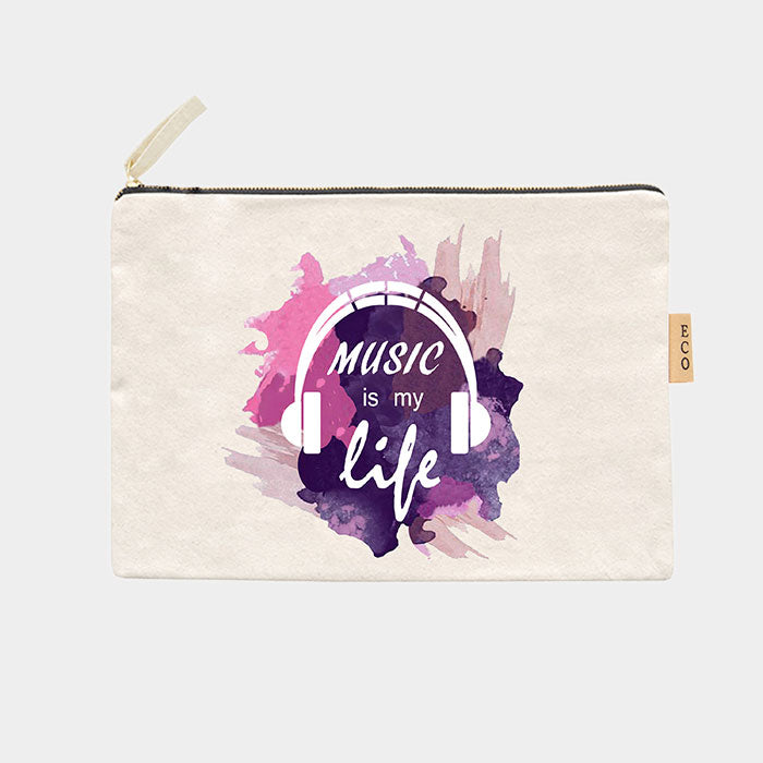 Canvas Schminktasche Eco - Music Is My Life