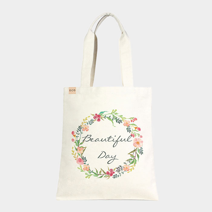 Canvas Tasche Eco - Beautiful Day - mit floralem Print