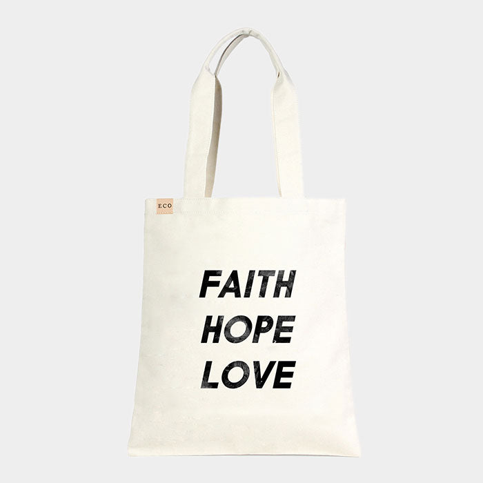 Canvas Tasche Eco - Faith Hope Love