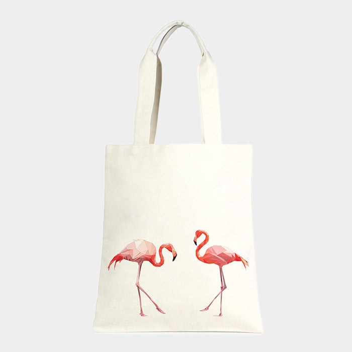 Canvas Tasche Eco - mit Flamingo Print