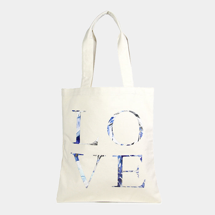 Canvas Tasche Eco mit coolem Love Print