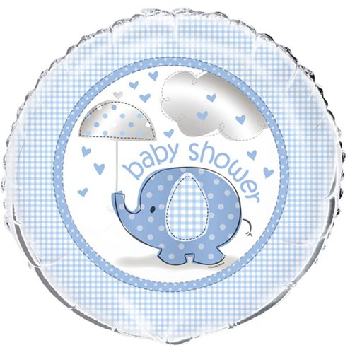 Ballon - Baby Shower Umbrellaphant - hellblau