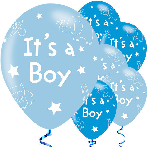Ballon Set -It`s a Boy- Blau 6-teilig im Perlenlook