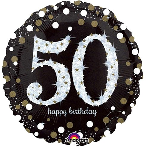 Ballon - Happy Birthday 50- Sparkling Celebration
