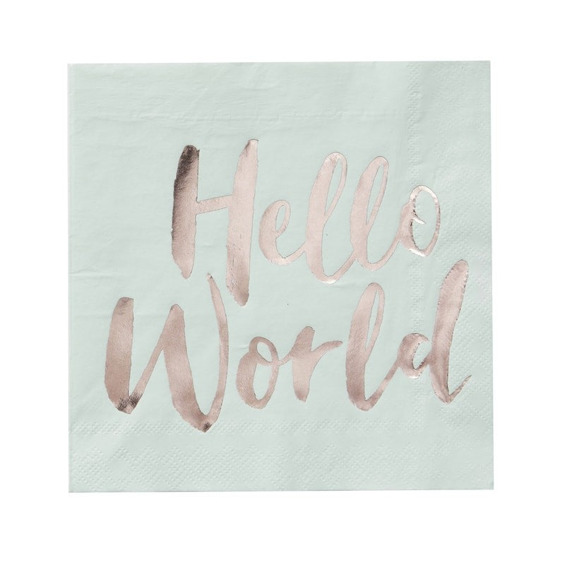 Papierservietten - Hello World - 20-teilig