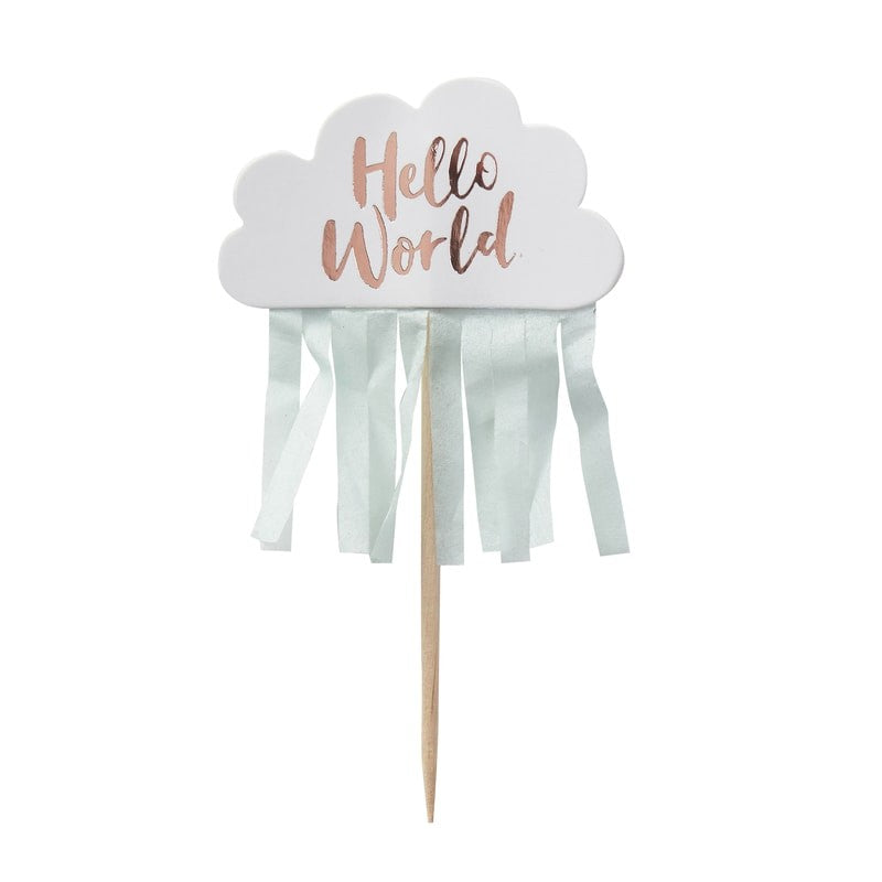 Cupcake Toppers - Hello World - 10-teilig
