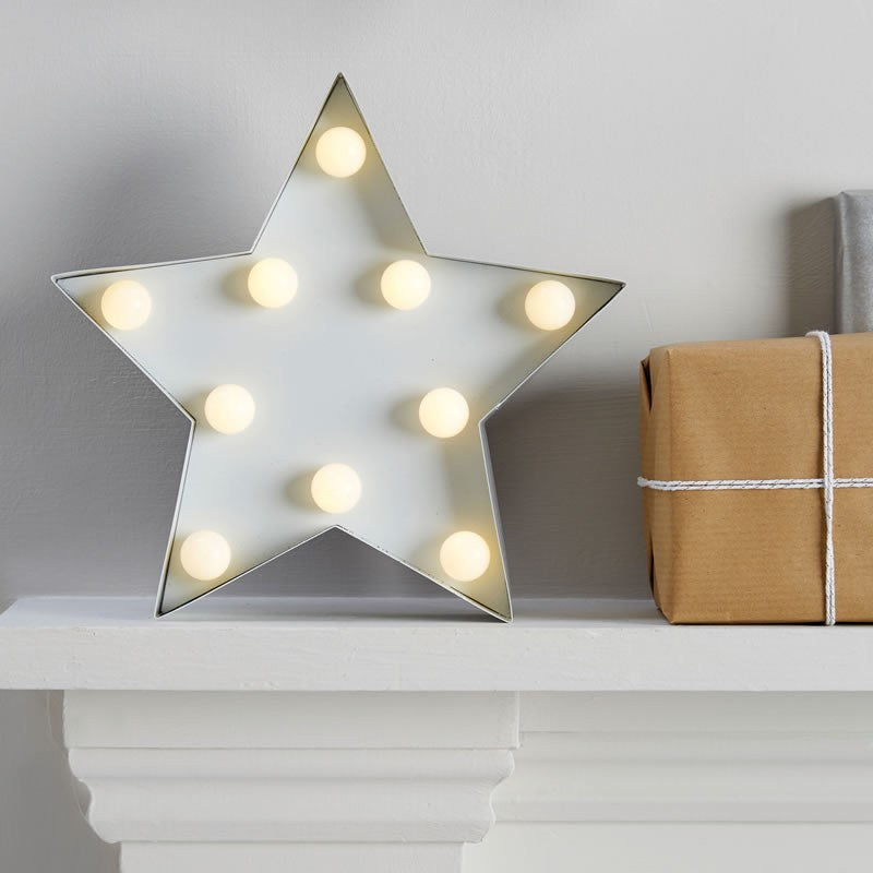 LED Lampe - Stars - Weiss