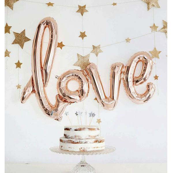 love-ballon-rosègold-shape