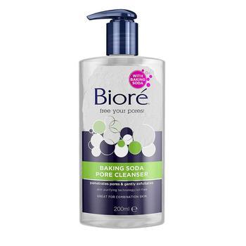 Bioré Baking Soda Pore Cleanser til tørr hud – 200ml