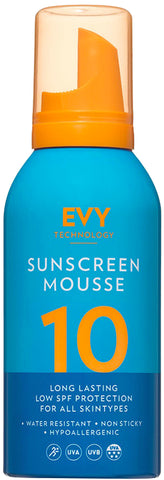 EVY Sunscreen Mousse SPF 10 solkrem til sensitiv hud - 150ml