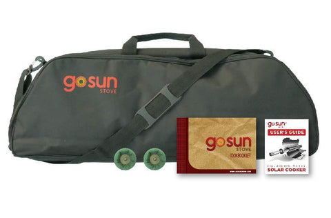 GoSun Sport ProPack padded carrying case and cook booklet