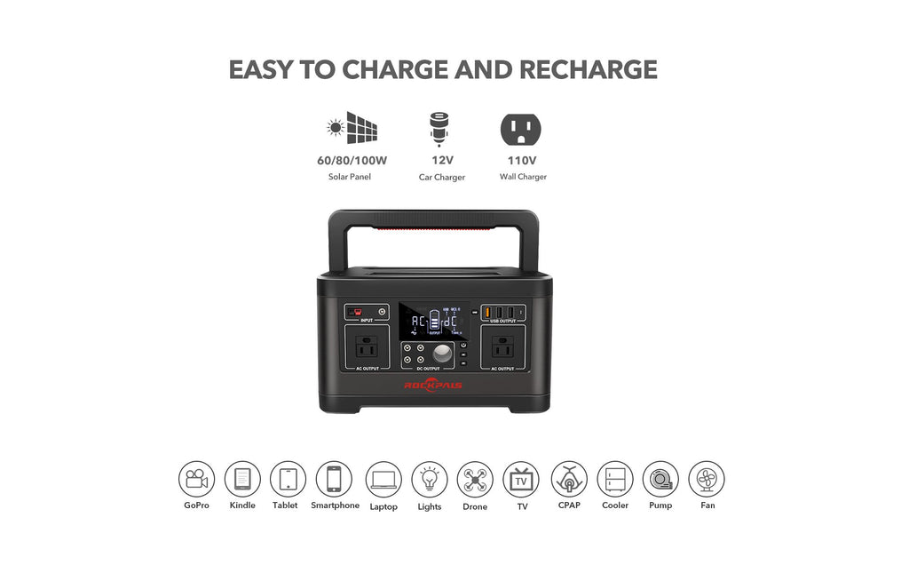 Rockpals 500W/520WH Portable Power Station