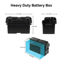 Load image into Gallery viewer, Renogy Heavy Duty Battery Box for Group 24-31 Battery Sizes