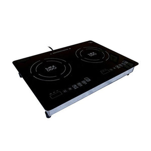 True Induction MD-2B Mini Duo Portable Counter Inset Double Burner Induction Cooktop, 120V, Black