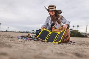 SunJack 25W Portable Solar Charger + 2 Powerbanks