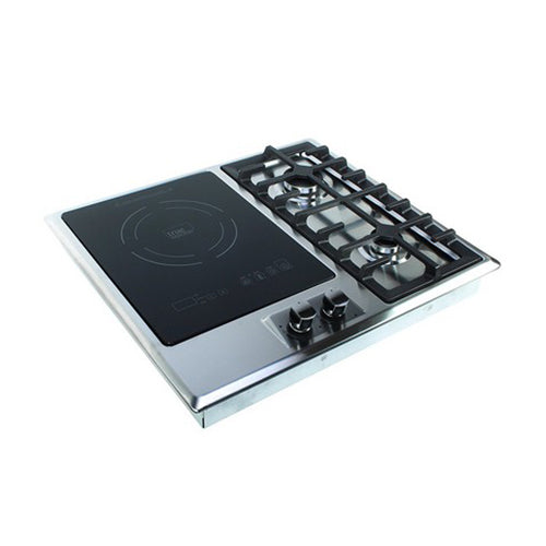 True Induction TI-1+2B Built-in RV Stove with Double Gas Burner and Electric Induction Cooktop