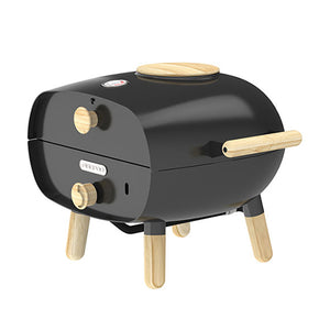 The Firepod Outdoor Gas Oven in Charcoal Black Firepod Black