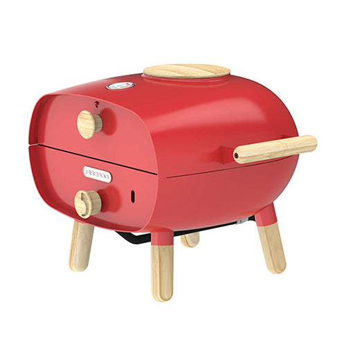 The Firepod Outdoor Gas Oven in Lava Red Firepod Red