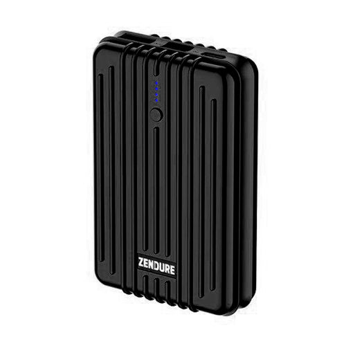 A3PD Portable Charger 10000mAh Zendure USB-C Portable Power Bank with Dual USB Output (3A), Compact External Battery Charger - Black