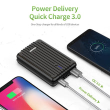 Load image into Gallery viewer, A3PD Portable Charger 10000mAh Zendure USB-C Portable Power Bank with Dual USB Output (3A), Compact External Battery Charger - Black