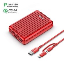 Load image into Gallery viewer, Zendure A3 PD 10,000 mAh Crush-Proof Portable Charger (Red)