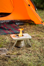 nCamp Compact Wood Burning Camping Stove, Backpacking Hiking Stove  Collapsible  Lightweight  Stainless Steel for Outdoors