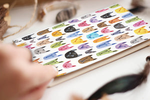 Cats Pattern Pocket Notebook