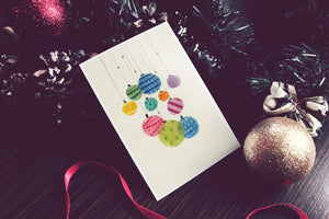 Colorful Christmas Decorations Card